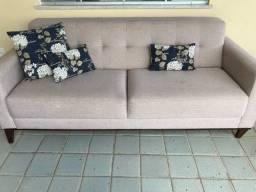 Sofa 3 lugares c almofadas