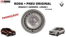 Roda + Pneu S/Novo Renault Logan / Sandero Step Original