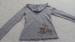 Título do anúncio: Camiseta malha manga longa c/capuz