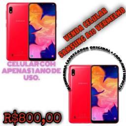 Samsung A10 Vermelho