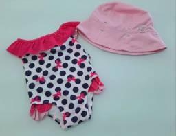 Maiô Infantil e chapéu proteção UV