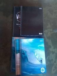 Cadernetas 1 materia + Folhas papel chamex A4