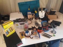 Kit Bancada Completa Manutenção Celular, Computador e Loja Acessórios