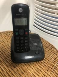 Telefone sem fio Motorola, pilhas recarregáveis