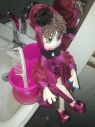 Título do anúncio: Boneca porta trecos rosa