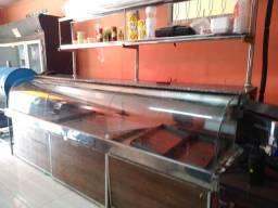 Balcão comercial refrigerador com gancheira