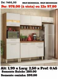 Grande Promoção MS- Armario de Cozinha- Conjunto Cozinha Compacto com Balcão