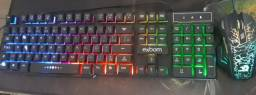 Título do anúncio: Teclado Semi Mecânico RGB + Mouse RGB com Botões Laterais