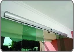 Título do anúncio: KIT Porta  Automatica Vidro / Aluminio - sensor movimento/senha/Biometria - Ate 10x