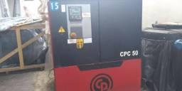 Vendo compressor de ar de parafuso, 50 hp Chicago semi novo