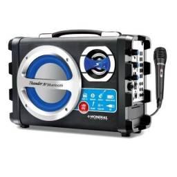 Caixa Acústica Mondial Multi Connect Bluetooth USB Microfone com Fio ? 40W