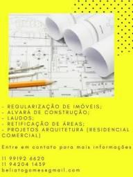 Regularização de Imóveis/Arquitetura/Acompanhamento de Obra