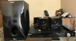 Home Theater Toshiba 5.1 XB4351 300w RMS ( Com Defeito)