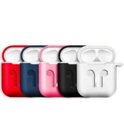 Capa Case Anti Queda Silicone para AirPods Apple iPhone