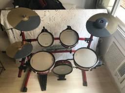 Ótima Bateria Eletrônica Staff Drums Realistic RK - 120
