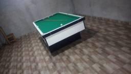 Mesa Gaveta Faça o Pedido Cor Branca Tecido Verde Mod. HTSK9194