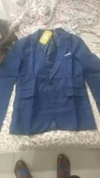Blazer (Cinza e Azul) Tam. M