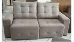 Sofá Retrátil e Reclinável com assentos de mola