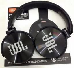 Fone De Ouvido Sem Fio Everest JBL-950 Bluetooth Fm