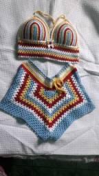 Conjunto de crochê adulto tamanho M