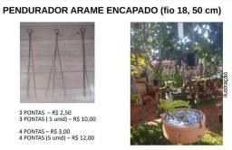 Pendurador de arame encapado para orquídeas e plantas