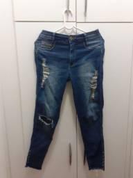 Calça jeans Biometria cigarrete desfiada (n° 40)