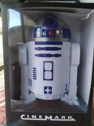 Balde R2D2 Star Wars Cinemark com Certificado de Autenticidade