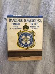 Caixa de Fósforo Antiga - Banco do Comércio