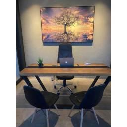 Mesa de Escritório madeira Maciça