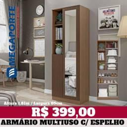 Título do anúncio: Armário Multiuso com Espelho (3 Cores) Entrega
