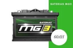 Título do anúncio: Bateria Mg3 60ah   12 meses garantia   aceitamos cartões em até 12x