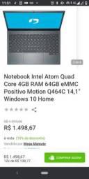 Notebook semi novo na caixa !!