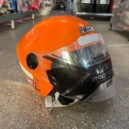 Título do anúncio: Venha já comprar novo capacete New Liberty 3 nova cor laranja
