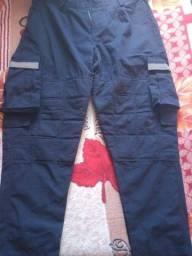 Calça Tática c/Refletivo de bombeiro civil Azul M/G