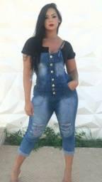 Título do anúncio: Macaquinho jeans tamanho 36  R$: 55.00