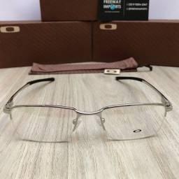 Óculos Oakley MT08 Prata armação de alumínio