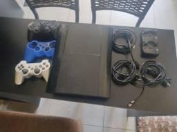Vendo Playstation 3 com 232 GB completo com HEN instalado, 2 controle