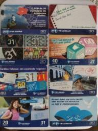Título do anúncio: Cartões telefônicos Tarjinhas
