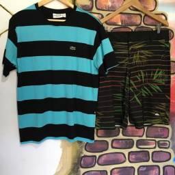 Kit Camisa Peruana Bermuda Social Elastano