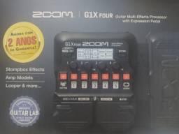 Título do anúncio: Vendo pedaleira Zoom G1x Four semi nova