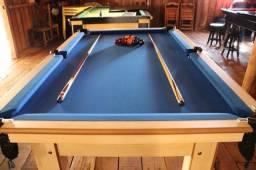 Título do anúncio: Mesa Tentação 4 pés Tecido Azul Mod. 697VY0DQ