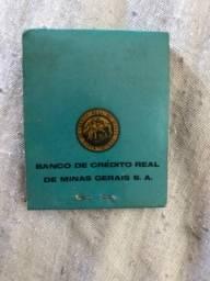 Caixa de Fósforos Antiga - Banco de Crédito Real de Minas Gerais - 1959