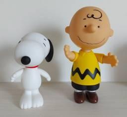 Kit Bonecos Snoopy e Charlie Brown em Vinil - perfeito estado