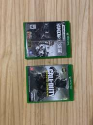 Jogos Call of duty Infinite Warfare e Rainbow Six Siege - Xbox one