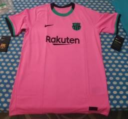 Camisa Oficial Barcelona - Rosa