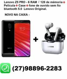 Lenovo Z5 Pro - 128 GB, 6 GB ram + Fones Bluetooth + Película FULL + Capa Protetora