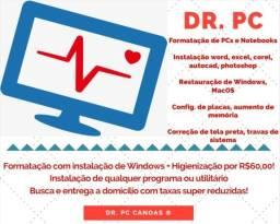 Formatação de PCs e Notebooks - Dr. PC Serviços de Informática