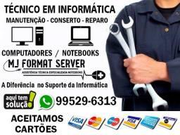 Serviços em Manutenção de Notebooks / Consertos e Formatação / Técnico Informatica