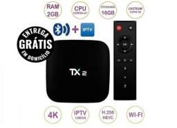 Tv Box Memória 2gb ram 16gb rom android bluetooth tx2 kodi entrega gratis