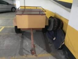 Reboque Carretinha De Alumínio Capacidade 500kg Transporte